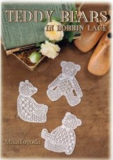 X-07065 TOYODA MIKA - TEDDY BEARS IN BOBBIN LACE